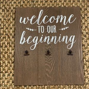 """Other - 'Welcome to Our Beginning"""" Wooden Sign"""